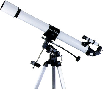"76mm/3""inch equatorial refracting telescope"